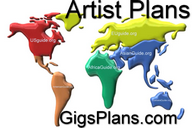 GigsPlans = Artists / Bands that intend to be at another Continent.